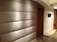 รับบุผ้าผนัง  รับบุหัวเตียง  0813735190 UPHOLSTERED WALLS  Padded fabric wall panel and Create your own Headboard  Service   BANKOK      PATTAYA   SRIRACHA  RAYONG  เสริมฟองน้ำใหม่ บุผ้าหัวเตียง เปลี่