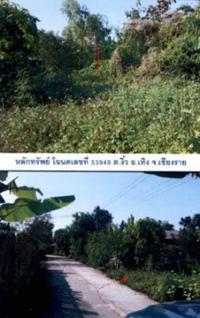 ที่ดินเปล่าหลุดจำนอง ธ.ธนาคารกรุงไทย เชียงราย อำเภอเทิง ตำบลงิ้ว