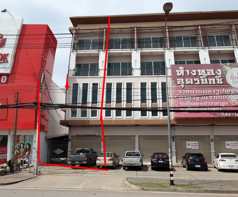 อาคารพาณิชย์หลุดจำนอง ธ.ธนาคารกรุงไทย อุดรธานี อำเภอเมืองอุดรธานี ตำบลหมากแข้ง