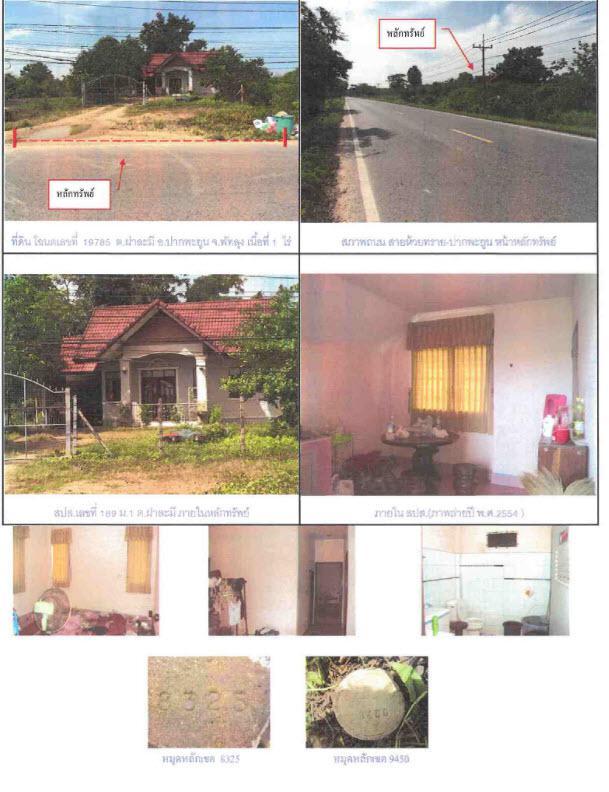 บ้านเดี่ยวหลุดจำนอง ธ.ธนาคารกรุงไทย พัทลุง ปากพะยูน ฝาละมี