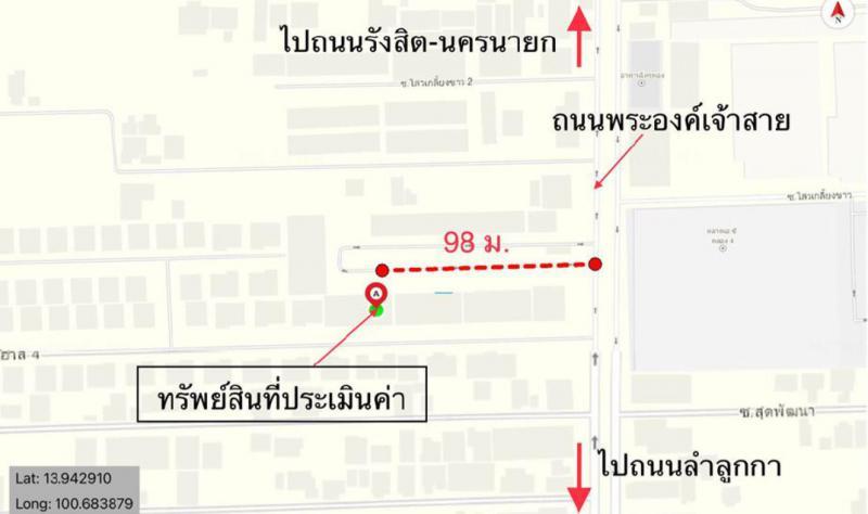 อาคารพาณิชย์หลุดจำนอง ธ.ธนาคารกสิกรไทย ปทุมธานี ลำลูกกา ลาดสวาย